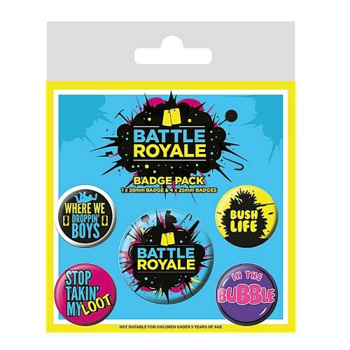 Battle Royale Infographic Button Badge Pack